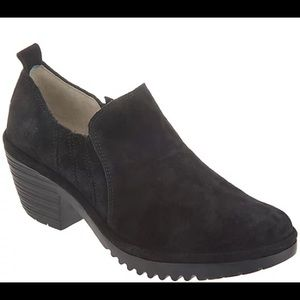 FLY London Suede Low Ankle Slip-on Bootie 42EU 11